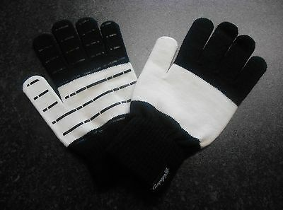 Campagnolo Heritage Wool Casual Cycling Gloves size L - XL BLACK/WHITE