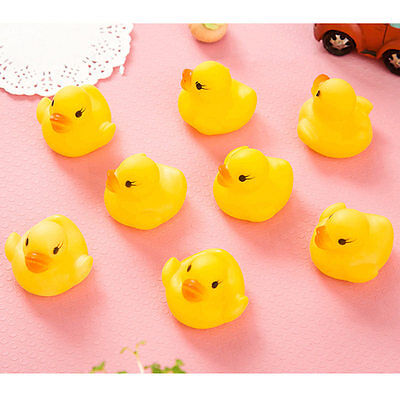 10/20X Mini Yellow Bathtime Rubber Duck Bath Toy Squeaky Water Play Kids Toddler