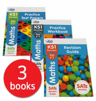 Letts KS1 Maths SATs Revision Help Collection - 3 Books