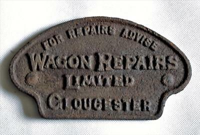 Vintage  Cast Iron Railway Sign  'wagon Repairs Limited' Gloucester