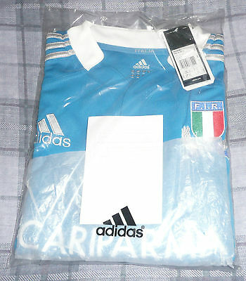 Italy SMALL LONG SLEEVE  Rugby Union Shirt BNWT FREE POSTAGE