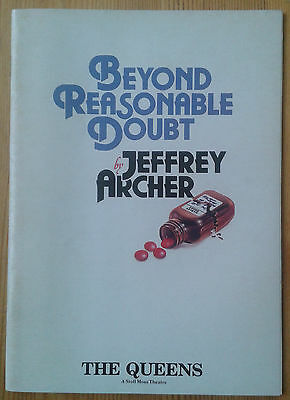 Beyond Reasonable Doubt programme The Queens Theatre 1988 Frank Finlay