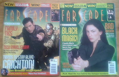 Individual Farscape The Official Magazine issues, Ben Browder Claudia Black