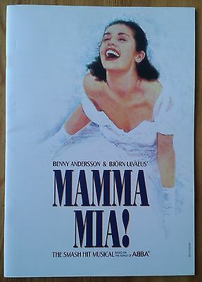 Mamma Mia! Souvenir Brochure photo programme January 2011 edition