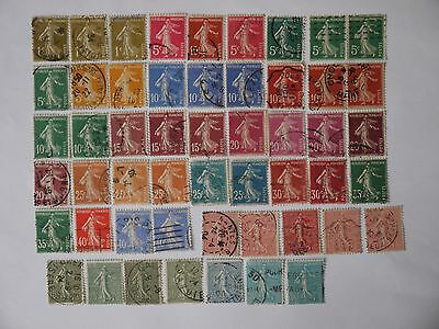 FRANCE USED STAMPS a