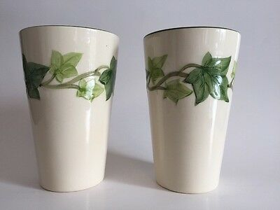 Vintage Franciscan Pottery Ceramic  Ivy 12 Ounce Tumblers Set of 2