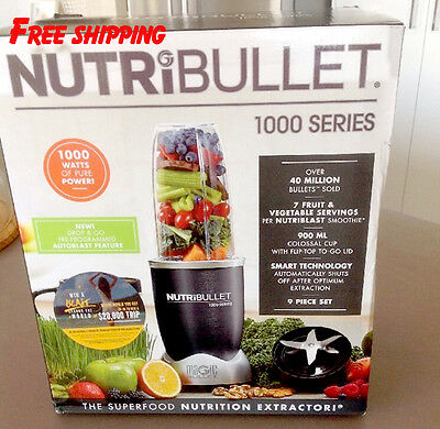 Nutribullet 1000W N10-0907DG 9 Pieces Set BRAND NEW - FREE SHIPPING