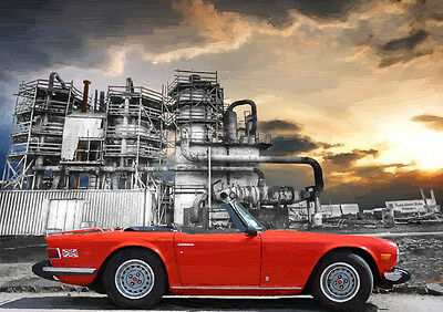 Automotive Art - Triumph Tr6 - Hand Finished, Limited Edition (25)