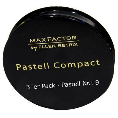 3x Max Factor Compact - Pastell Nr. 9 - All-in-one Make-up Alle Hauttöne - 20g