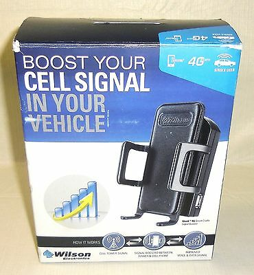 New Wilson 460107 Sleek 4G Cradle Vehicle Cell Signal Booster Kit All Carriers