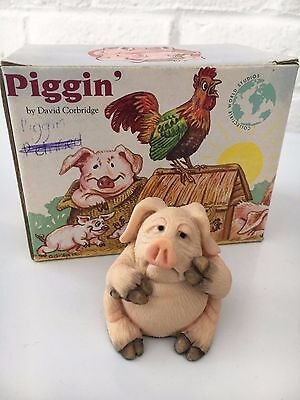 Piggin Poorly Collectible Pig By David Corbridge Boxed