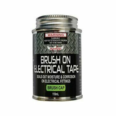Brush-On Electrical Tape Black 118mL Appearance: Black Liquid