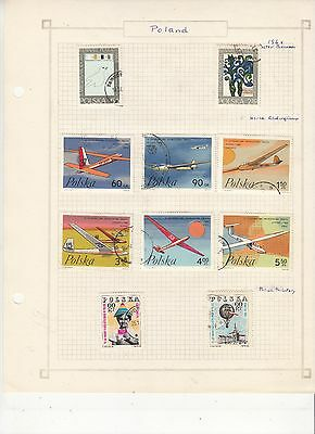 POLAND  1968 Stamps on old Album Page Removed for Shipping.,USED