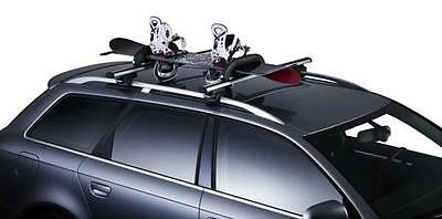 THULE Snowpro Classic Ski Snowboard Carrier Roof Rack for up to 3 pairs of Skis