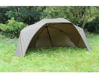 "Carp Fishing Saber Lite Brolly Large 60"" Waterproof Bivvy Shelter With Sides"