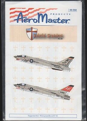 F-8E Colorful Crusaders Part Vii Aeromaster Decals 48568 1/48