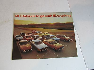 Vintage 1976 14 Datsuns to go with Everything  Brochure