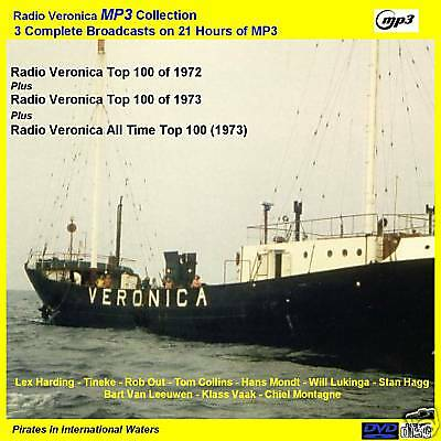 Pirate Radio - Veronica 1972 & 1973 Top 100s 21Hrs 'NOW CAR PLAYER MP3 FRIENDLY