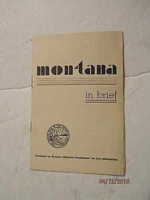 Vintage 1930's Montana in Brief by Montana Highway Department