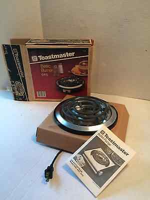 Toastmaster Buffet Range Basic Burner 6415 With Box