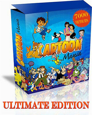 Cartoon Mania Ultimate 7000 Eps Format vector clip art vinyl cutter plotter
