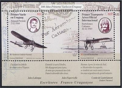 Bloc Sheet Avion Airplane Aviateur Aviator Neuf ** MNH - Uruguay 2010