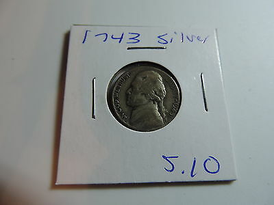 1943 US American Nickel coin A522