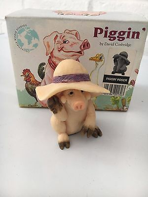 "PIGGIN' POSER"" PIG by David Corbridge 1993 Boxed"