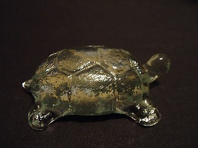 Old VIKING Westmoreland TURTLE Art Glass Whimsey Crystal FIGURINE Paperweight