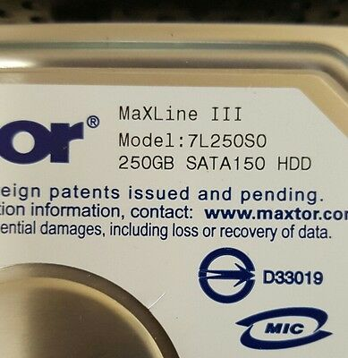 Maxtor MaxLine III 250GB SATA150 HDD 7L250S0 (Lot of 10)
