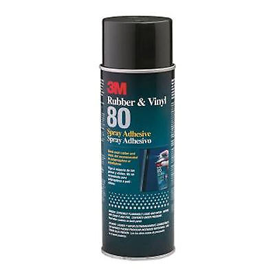 3M Rubber And Vinyl 80 Spray Adhesive Yellow, Net Wt 19 oz