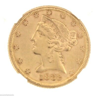 1882 P Gold Liberty Head Half Eagle Five Dollar $5 NGC MS61 Coin