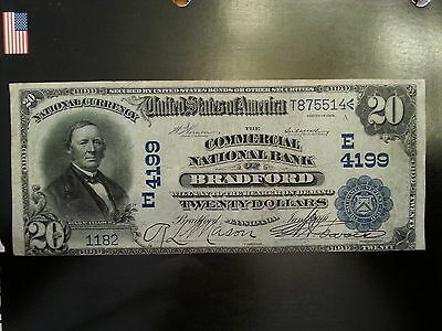 1902$20 Date Back The Commercial  National Bank Of Bradford, Pa Charter#4199