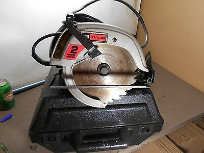 "Sears Craftsman 7-1/4"" Circular Saw Double Insulated 5400 Rpm 315.10864 ,works !"