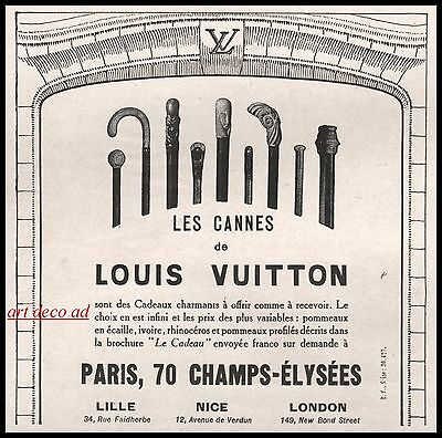 1924 - Louis Vuitton Les Cannes  Art Deco vintage print  ad - 2j