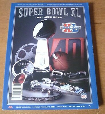 2006 - Pittsburgh Steelers v Seattle Seahawks, Super Bowl XL Programme.