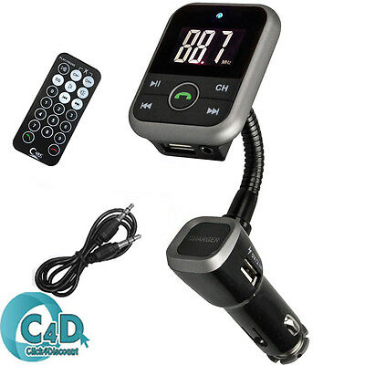 Bluetooth Wireless LCD Car MP3 Player FM Transmitter +SD USB Remote Charging Kit