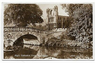 Old Real Photo Pc, Elgin Cathedral From The Lossie.     9
