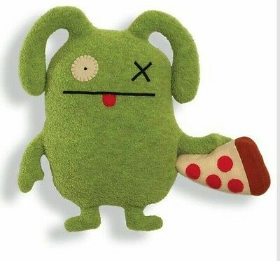 "Uglydoll Classic Foodies - 11"" - Ox With Pizza - New"