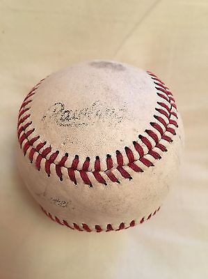 RAWLINGS- White Leather Baseball Ball - Red Seam Stitching - Good Condition