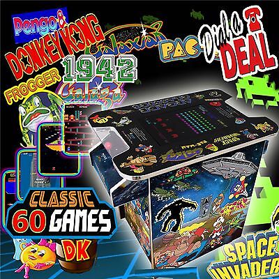 Arcade table 2 player Machine plays  60 classic games inc space invaders
