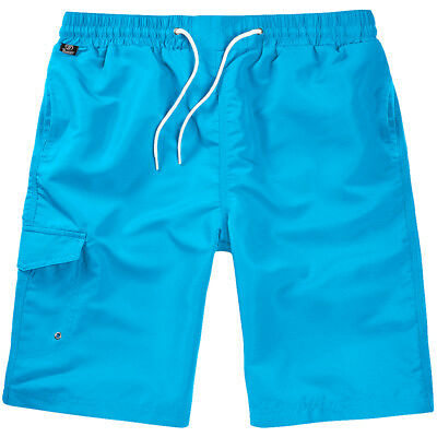 Brandit Swimshorts Leisure Quality Summer Underwear Grommets Pocket Turquoise