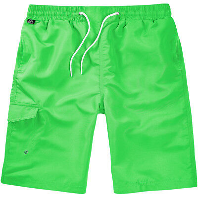 Brandit Swimshorts Quick Dry Casual Summer Holiday Lightweight Underwear Lime