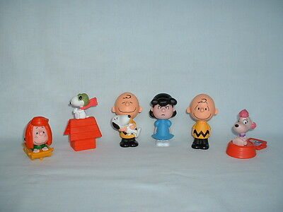 SNOOPY PEANUTS Set Of 6 Action Figure Toys (CHARLIE BROWN/LUCY/PULL BACK/SCHULZ)