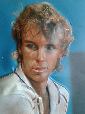 Mats Wilander Moulded Poster 1980's French Open Tennis