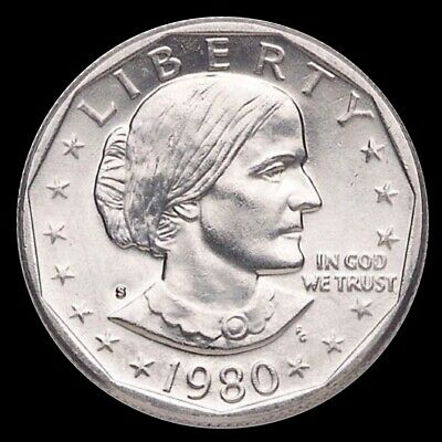 """1980 S Susan B Anthony Dollar US Mint Coin """"Brilliant Uncirculated"""" SBA"""