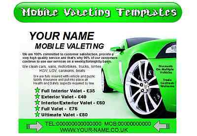 Mobile valeting/car cleaning startup templates/start your own business