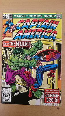 Marvel Comics Captain America #257 May 1981 VF/NM first print Hulk appears