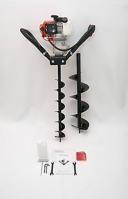 """Hand-Held Post Hole Digger / Earth Auger w/ 4"""", 8"""" Bits, 52cc 2.3hp Gas Engine"""