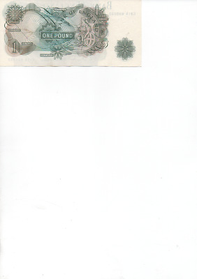 Bank of England One Pound Note Hollom C91R 898032